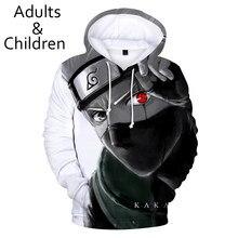 3D Anime Sasuke Hoodies Men Boys Sweatshirt Harajuku Kids Hooded Autumn Winter Pullovers Kakash Hip Hop Child Tracksuits