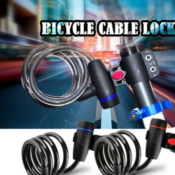 Bike Lock Chain Wire Lock Anti-theft Chain Lock For Bicycle Cycling Locks Steel Cable Electric Bicycle Equipment Security Lock bike lock chain wire lock anti theft chain lock for bicycle cycling locks steel cable electric bicycle equipment security lock