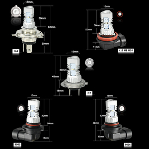 Image 5 - CNSUNNYLIGHT 2pcs LED Car Light H11 H8 Fog Lamps H7 H4 9005 HB3 9006 HB4 Daytime Running Lights Turning Parking Driving Bulb 12V