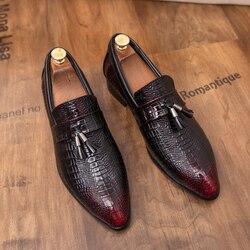 Homens Tamanho Grande Sapatos de Couro Fashion Business Casual Confortáveis Mocassins de Couro Genuíno homem Sapatos de Condução Plana Sapatos De Couro de Trabalho