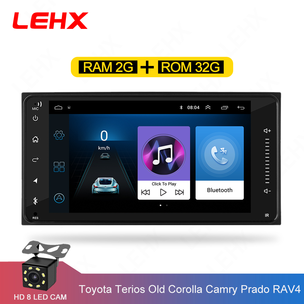 car Android 8.1 multimedia for toyota corolla <font><b>2</b></font> <font><b>Din</b></font> Universal car radio with navigation Bluetooth Wifi car stereo gps player image