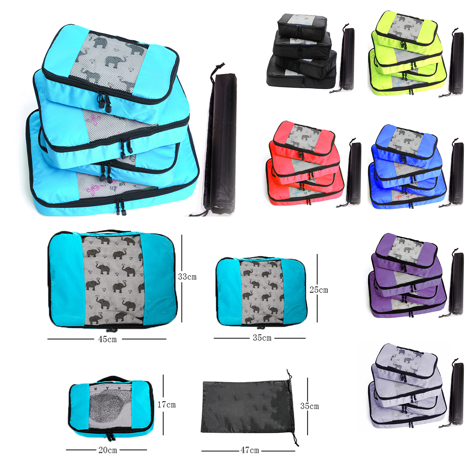 Travel Bags Packing Cube Luggage Nylon/Women/Big/Ladies/Large/Waterproof/Travel Bag Organizer/Women/Sets Packing Cube Organiser