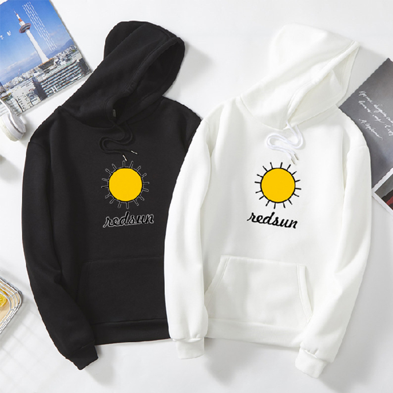 Harajuku sun fun print hoodies winter new Fashion hip hop plus size 3xl Loose 2019 Men's sweatshirt Casual Long Sleeve Pullovers