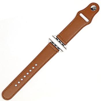 цена на Leather loop strap For Apple watch band 44 mm 40mm iWatch band 42mm 38mm Genuine Leather watchband bracelet Apple watch 5 4 3 21