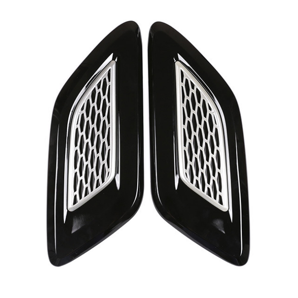 Black Hood Air Vent Outlet Trim Cover For Land Rover Discovery 5 L462 2017-2019