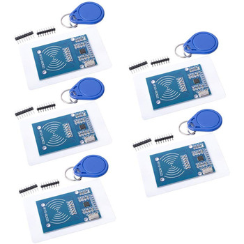 High Quality MFRC-522 RC522 RFID NFC Reader RF IC Card Inductive Sensor Module For Arduino Module + S50 NFC Card + NFC Key Ring