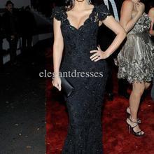 vestido de noiva 2018 maxi long vestidos formales New Fashion Kim Kardashian Sexiest Black Lace