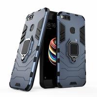 Für Xiaomi Mi 5X A1 Fall MI5X MIA1 Stoßfest Ring Stehen Stoßstange Silikon + PC Telefon Zurück Abdeckung für Xiomi mi A1 5X Funda Coque