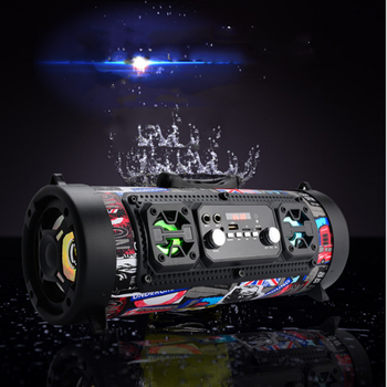 Subwoofer Bluetooth speaker portable wireless speaker sound system 15W stereo music surround outdoor bass backpack sound