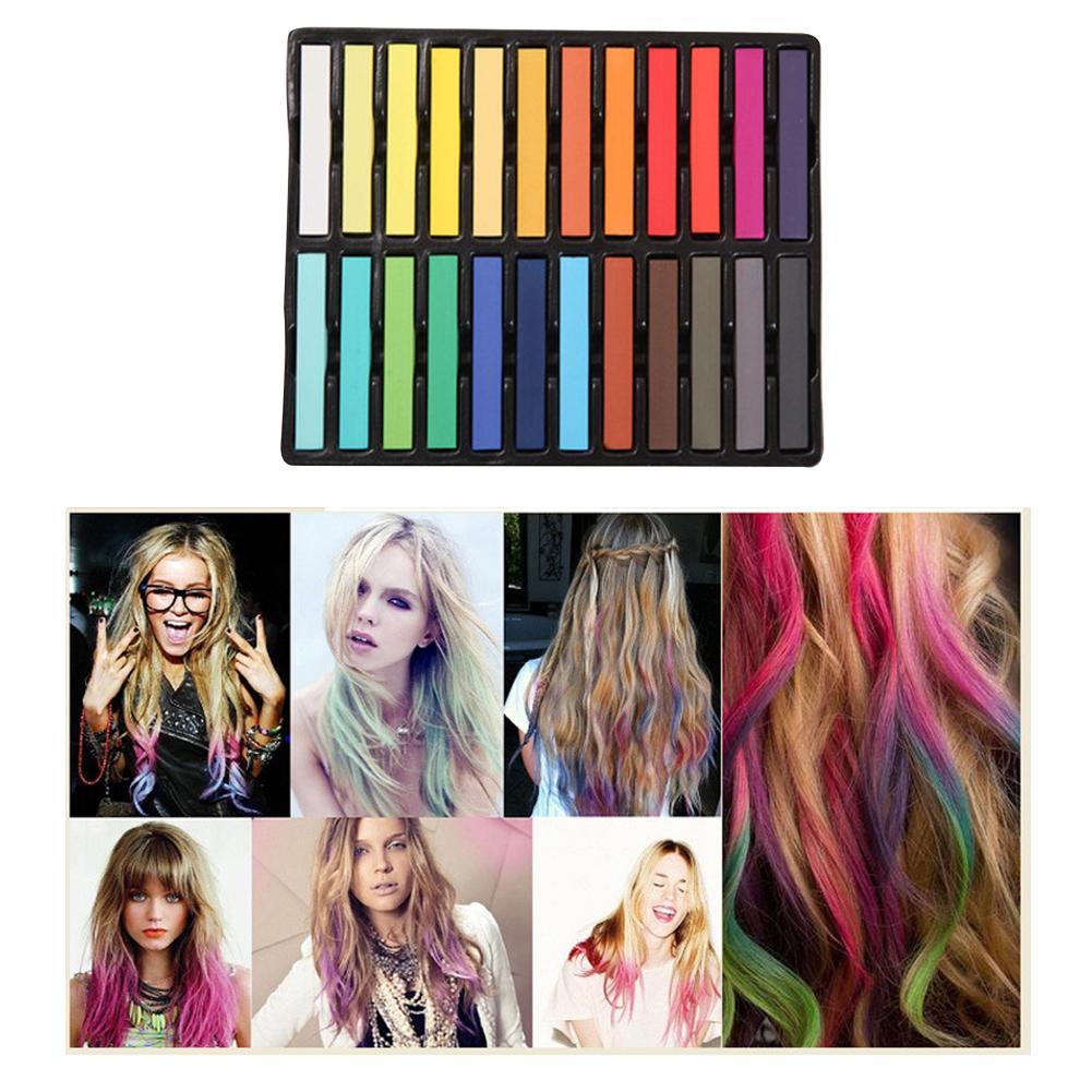 vibrantes cabelo temporário gradual cor múltipla ferramenta de cabelo