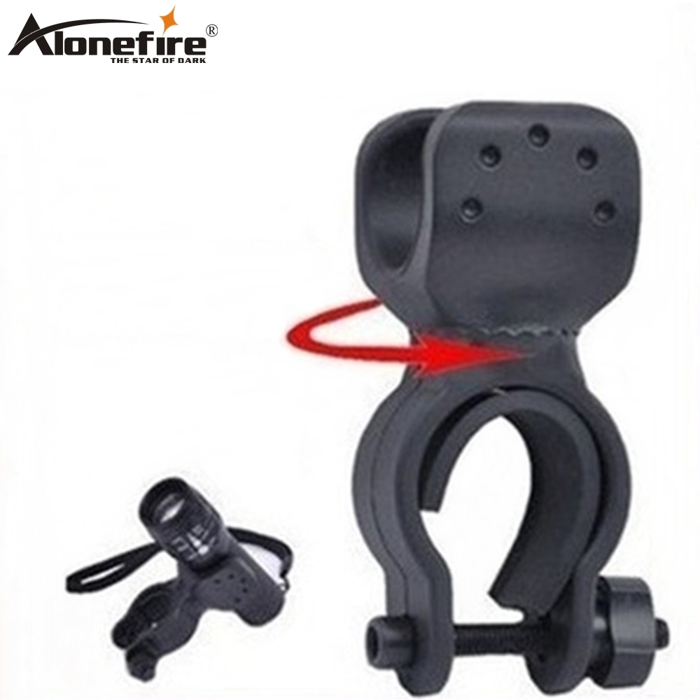 AloneFire LC-1 Flashlight Holder Bicycle Clip 360 Degree Rotation Bike Mount Stand Handlebar Clamp Cycling Riding Accessories