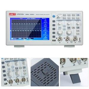 "Image 5 - UNI T UTD2102e Digital Oscilloscope 100MHz Logic Analyzer Bandwidth 2 Channels 500Ms/S Storage Portable 7"" TFT LCD Scopemeter"