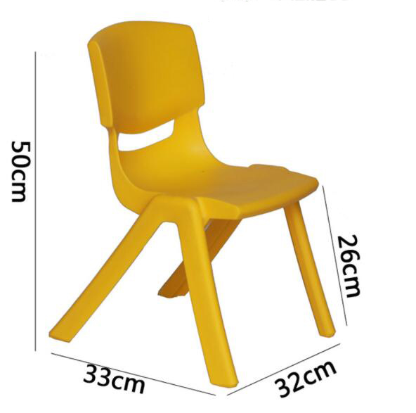 26cm Seat Height Thicken Kid's Safety Back-rest Chair Kindergarten Chair For 3-5 Years Children
