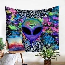 Trippy Alien By Brizbazaar Tapestry Watercolor Wall Carpet Tapestry Watercolor Wall Carpet Novelty Art Decor Throw