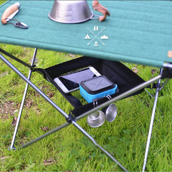 1PC Outdoor Folding Table Storage Pouch Bag Picnic Portable Storage Basket Hanging Mesh Pouch Camping Organizer S/L