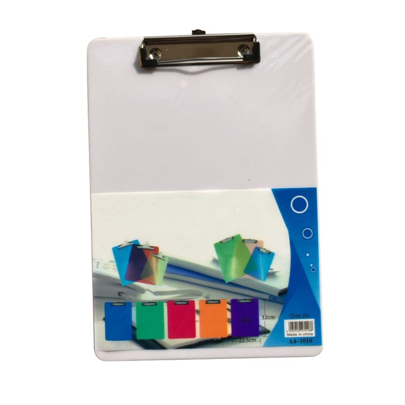Plastic Clipboard A4 Size File Clip Board Letter Size Home Office Working Paper Clip Holder Practical Storage Several Colors