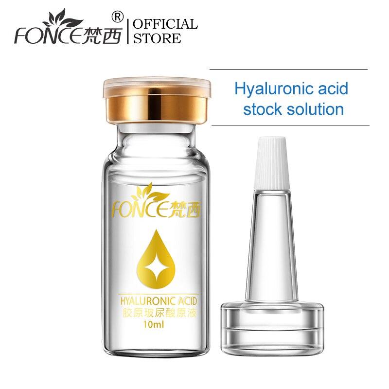 Fonce Coréia Colágeno Ácido Hialurônico Soro Rosto 10ml Encolher Poros Hidratante Clareamento Essência Anti-envelhecimento Cuidados Com a pele Seca nova