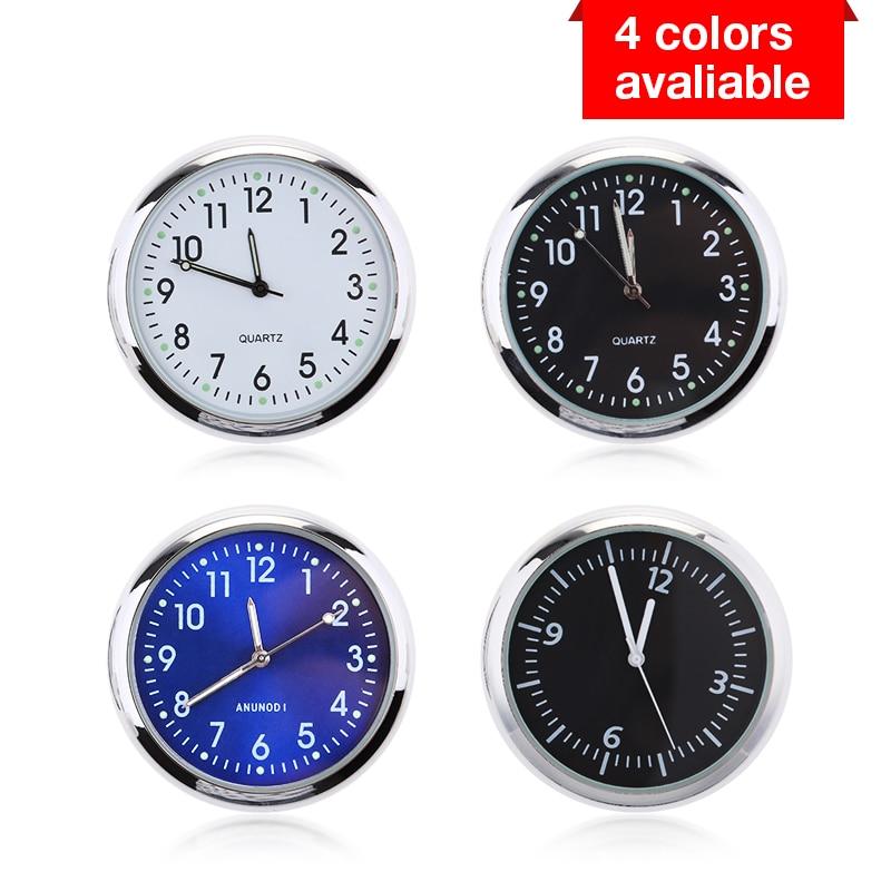 Universal Motorcycle Clocks Car Clock Luminous Mini Automobiles Internal Watch Stick-On Motorbike Mount Watch Suit for All Motor
