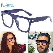 IVSTA Tom TF Brand Design Oversized Glasses Frame Men Steampunk Big Myopia Women Transparent Nerd Spectacles Computer Luxury