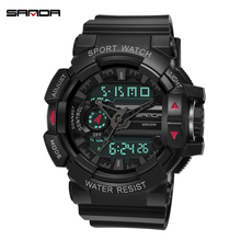 SANDA военные мужские часы люксовый бренд водонепроницаемые спортивные цифровые наручные часы модные кварцевые часы мужские часы relogio masculino
