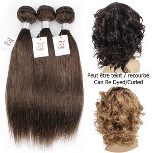 Image 4 - Bobbi Collection extensiones de cabello no Remy, marrón oscuro, 1B 27, rubio miel, indio