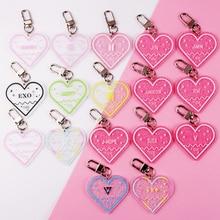 цена на KPOP Bangtan Boys Keychain TWICE BLACKPINK EXO SEVENTEEN GOT7 Acrylic Key Chain Gift JIMIN JUNGKOOK V RM ARMY J-HOPE Keyring