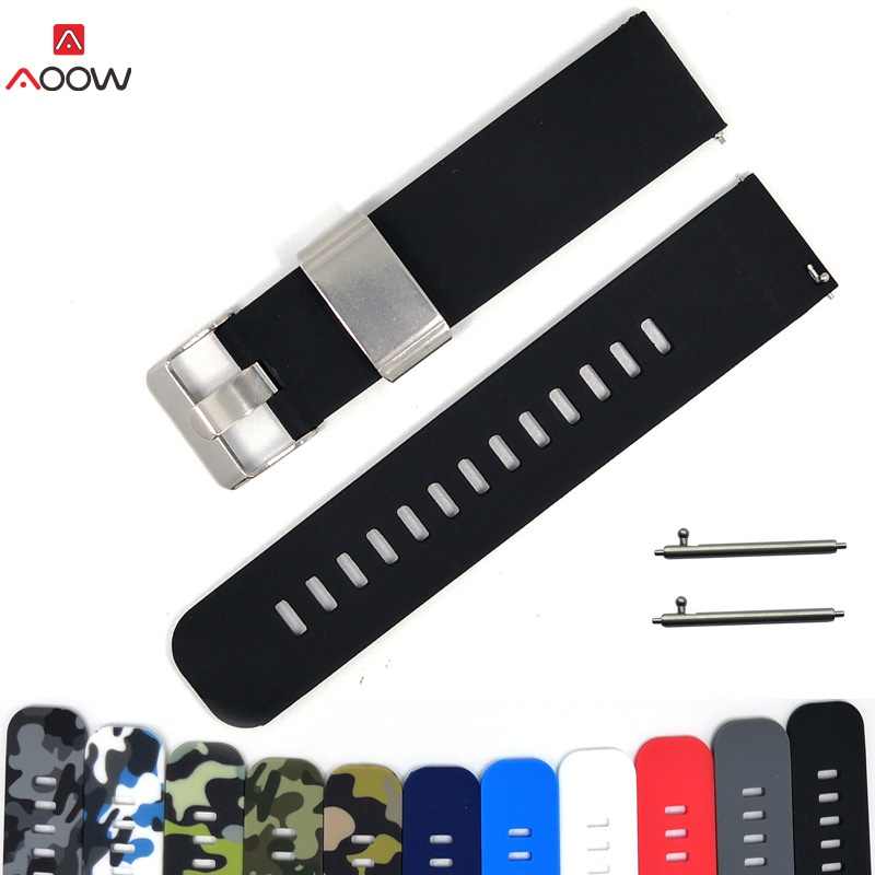 AOOW 22mm Straps For Samsung Galaxy Watch 46mm Gear S3 Fashion Camouflage Rubber Quick Release Replace Bracelet Watchband Belt