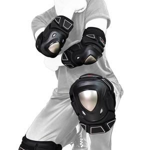Image 4 - Wosawe Mtb Beschermende Kleding Motorfiets Elleboog Protector Armor Downhill Beschermende Gear Guards Motocross Snowboard Knie Bescherming