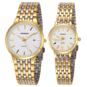 Luxury Brand Watches Women Men Gold Watches Stainless Steel Quartz Wristwatches Fashion Lovers Watches reloj hombre reloj mujer fashion casual watches men women couple watch leather strap quartz wristwatches fashion lovers watches reloj mujer reloj hombre