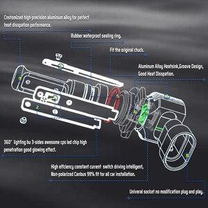 Image 3 - Mini H11 LED With 3570 CSP Car Lamps Anti Fog Lamp Bulb H4 H8 H7 Fog Light HB3 9005 HB4 9006 6000K Luces Led Para Auto 12V DC