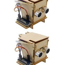Robot STEM Wooden Programming Education Kids Smart Trash Suite-Supports DIV Experimental