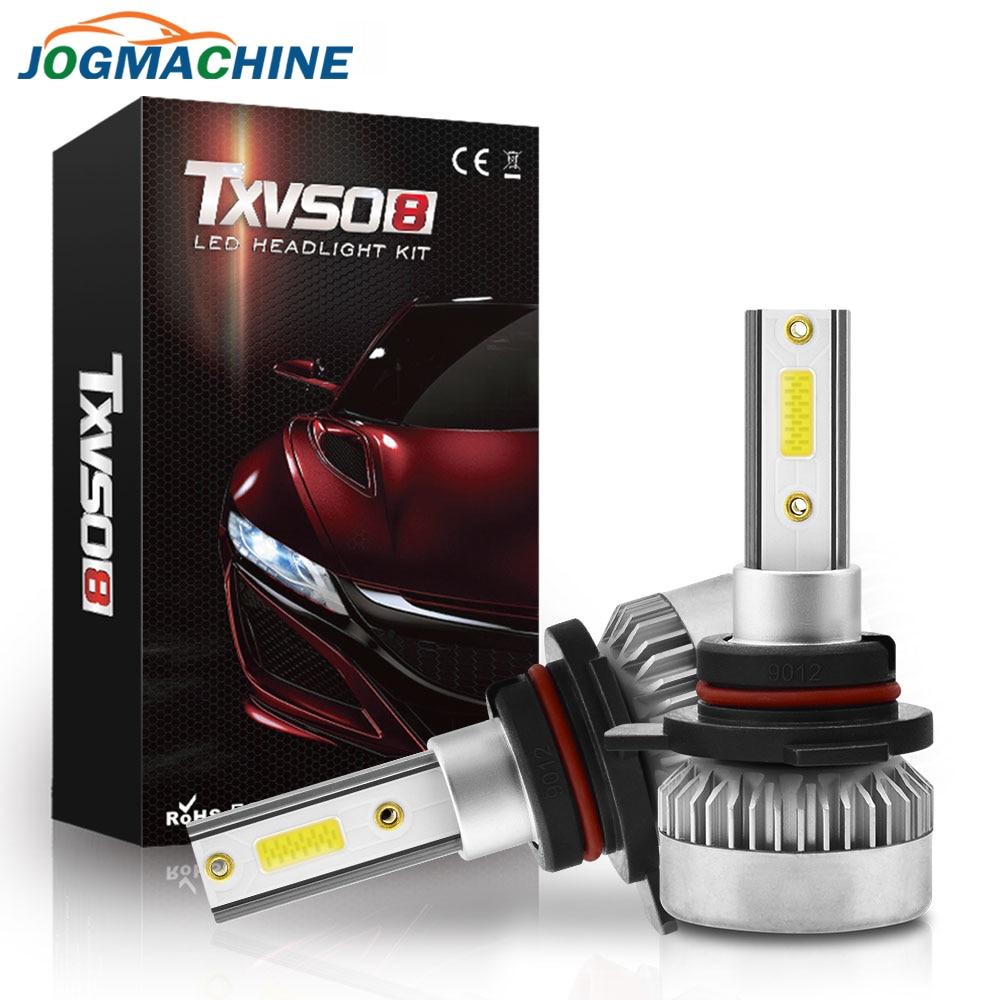 2x LED Headlight Bulbs 9005 9006 H4 H7 H8 H9 H11 200W 4Side vs Halogen Xenon HID