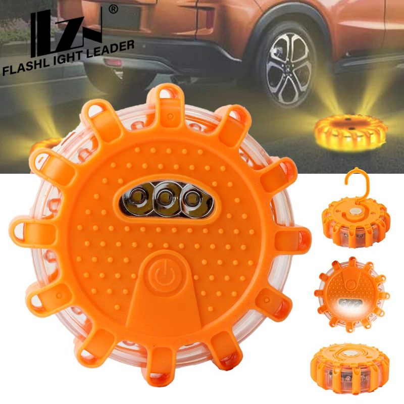 Car Emergency Beacon Help Flash V16 Homologated Dgt Road Flares Rescue Police Flashing Beacon Magnetic Strobe Warning Light Sign