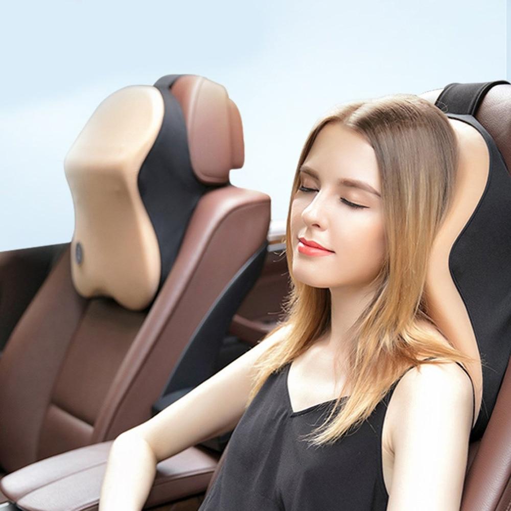 Universal Space Memory Cotton Foam Fabric Pillow Bone Neck Shoulder Cushion Car Styling Massage Support Headrest Car Seat