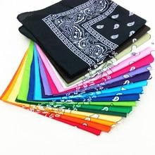 2021 quente ao ar livre bandana lenço quadrado 55cm * 55cm preto vermelho paisley bandana bandana bandana bandana bandana impresso para mulher/homem/meninos/meninas