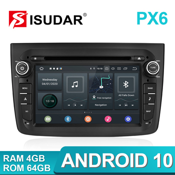 Isudar PX6 1 Din Android 10 Car Multimedia Player For Alfa Romeo Mito 2008- CANBUS Auto Radio Hexa Core Video DVD GPS System DVR
