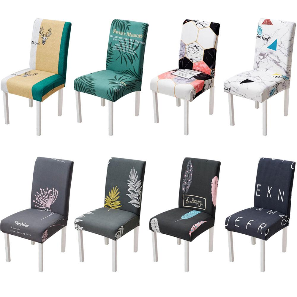 Meijuner Chair Cover Spandex Fabric Chair Case Print Stretch Removable Washable Chair Protector Cover For Room Banquet Y393