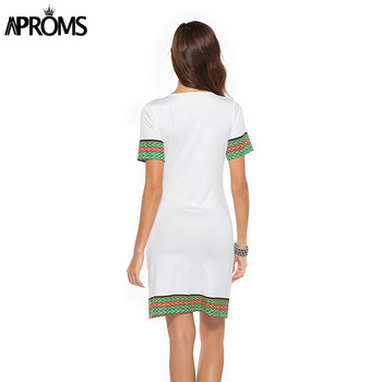 Aproms Sexy V Neck Pocket Patchwork Bodycon Tunic Dress Women Summer 2020 Robe African Print Dashiki Dresses Sundresses Vestidos 5