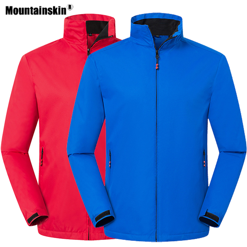 Mountainskin Winter Men Women's Hiking Jackets Outdoor Sports Thermal Fleece Windbreakers Climbing Camping Trekking Coats VA656