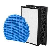 1 conjunto (3 pçs) filtro purificador de ar hepa carvão ativado umidificador filtro para sharp kc-840e-w peças reposição