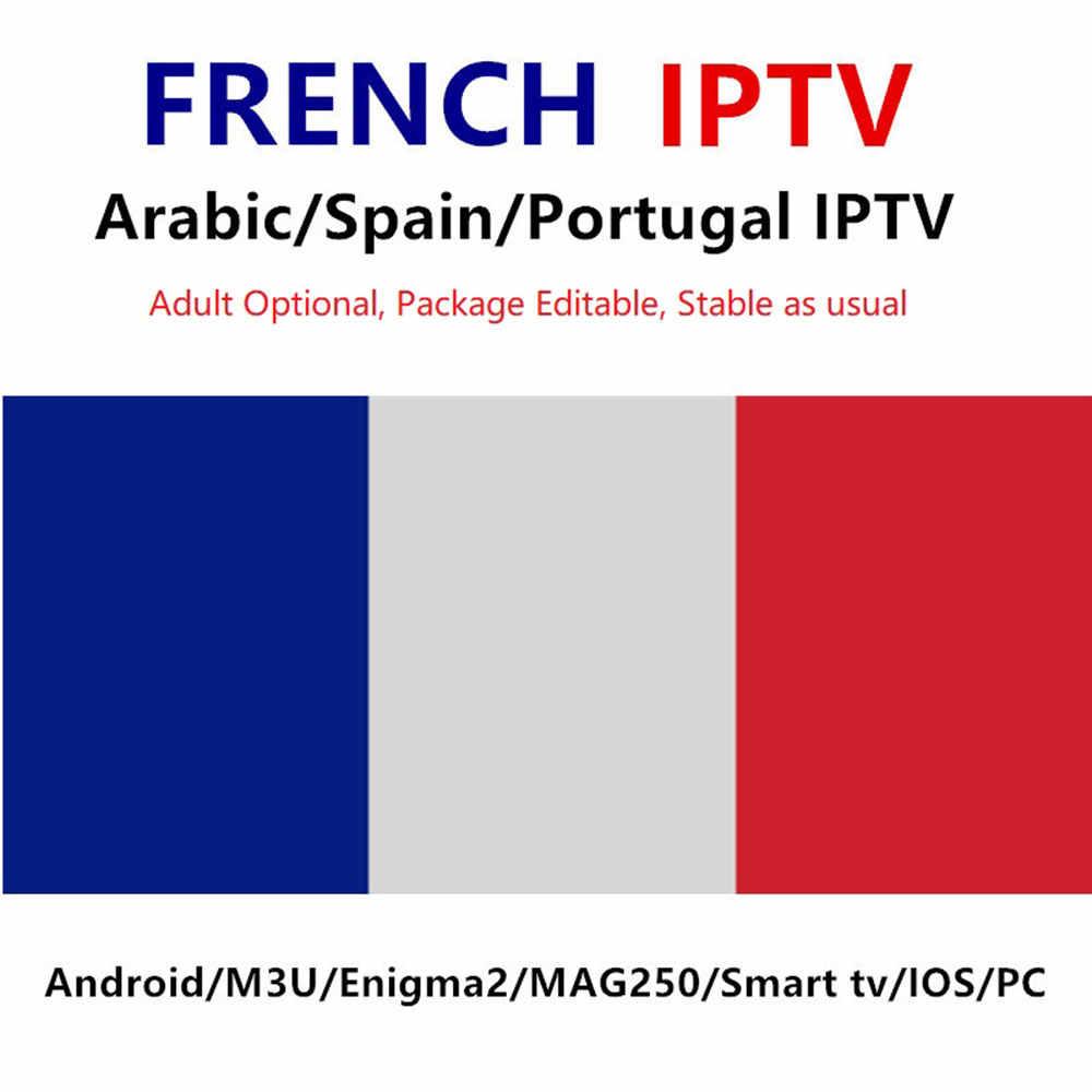 Europe français IPTV France Code espagne royaume-uni AL allemand 12 mois de travail sur SSiptv Smart IPTV SMARTERS VLC M3U H96 MAX X96 mini Box TV