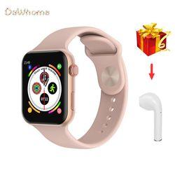 IWO Смарт часы Bluetooth сделать/ответ на вызов Сменные 42/44 мм ремешок Для женщин & Для мужчин, умные часы для Apple, Android PK W34 IOW8 IOW10