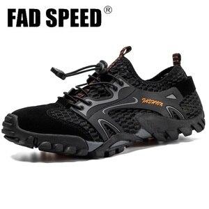 Image 1 - Men Mesh Aqua Shoes Outdoor Professional Non slip Durable Trekking Upstream Shoes Man Cool Hiking Wading Water Sports Sneakers