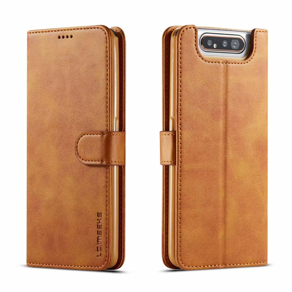 <font><b>Case</b></font> For <font><b>Samsung</b></font> Galaxy <font><b>A80</b></font> <font><b>Case</b></font> Cover <font><b>Flip</b></font> Leather Wallet Book Cover Vintage Magnetic Protector Funda For <font><b>Samsung</b></font> <font><b>A80</b></font> A90 Etui image