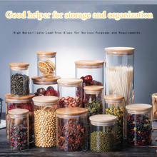 Hot selling  High borosilicate glass sealed cans, straight tea dried fruit snacks, storage bottles, candy cans D85