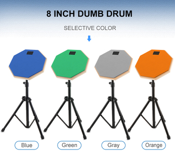 Drum Set 8 Inch Rubber Wooden Dumb Drum Practice Training Drum Pad with Stand 3 Colors Optional dp 850 practice drum pad lightweight and portable design cherub