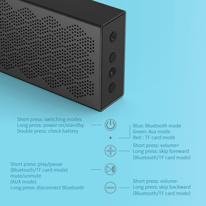 Image 5 - EDIFIER MP120 bluetooth speaker Support TF Card AUX Input CNC Technology Dual full range bluetooth 5.0 speakers