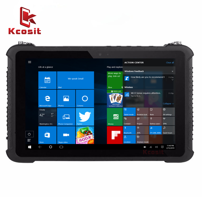 Original K16 Windows 10 Rugged Tablet 10.1 Inch Industrial Waterproof Tablets PC Intel Z8350 USB RS232 RJ45 Dual Band Wifi Sim