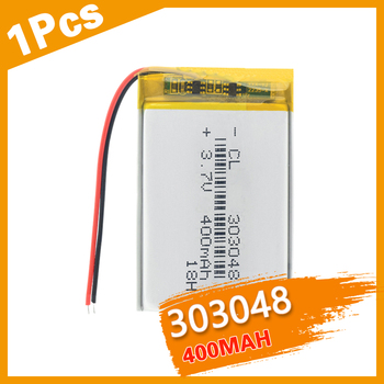 303048 3.7V 400mAH Li-polymer  lithium ion / Li-ion Rechargeable battery for GPS mp3 Remote Control E-book Router Camera Bateria
