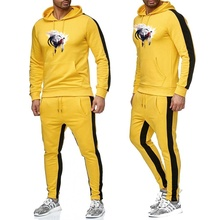 Специальное предложение Европа Осень Зима толстовка мужская толстовка одежда Спортивные штаны комплект хлопок Полярный толстый бархат, чтобы согреться